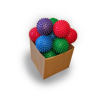 Bulk Reflexology Balls - Mixed Colours - 7.5cm - 20pk