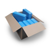 Bulk 10 - Yoga Block - Blue