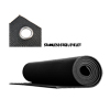 Yoga Mat - Thick - With Eyelets - Black