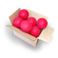 Bulk - Reflexology Ball - Red - 7.5cm - 20pk