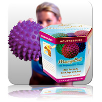 zz Massage Ball 10cm - Purple (Gift Box)