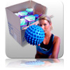 Bulk - Massage Ball - Blue - Gift Boxed 12pk