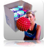 Bulk - Massage Ball - Red - Retail 12pk