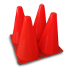 Witches Hat Cone 23cm (9in) - 4 Pack