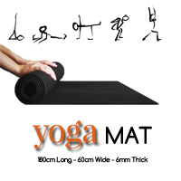 Yoga Mat - Thick - Black