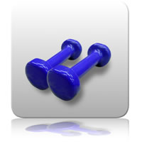 Dumbbell (Vinyl) Hand Weights - 0.5kg Pair
